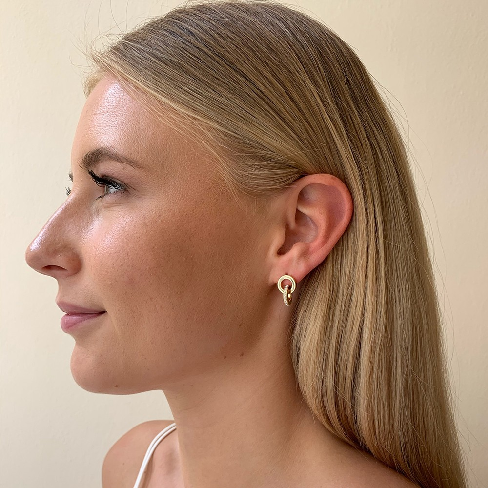 Connected Pendant Earring