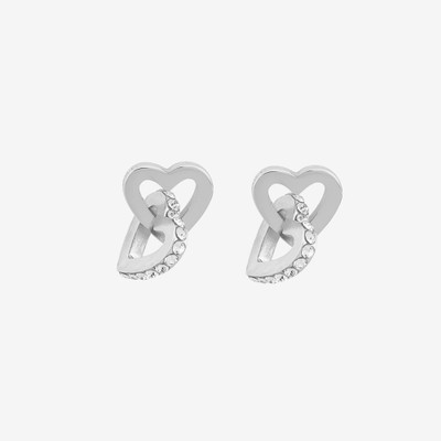 Connected Pendant Earring Heart