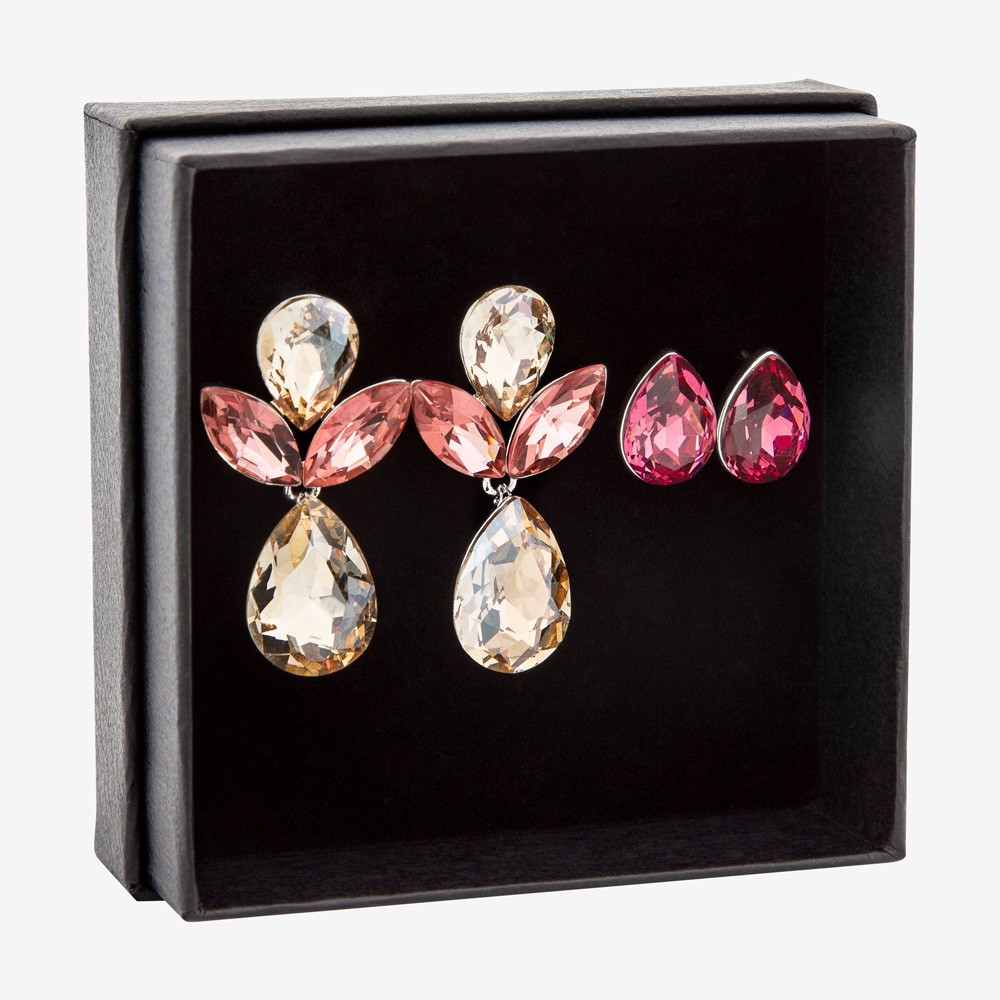 Gift Box Earring Mix Pink