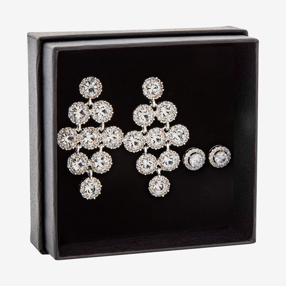 Gift Box Bling Earring