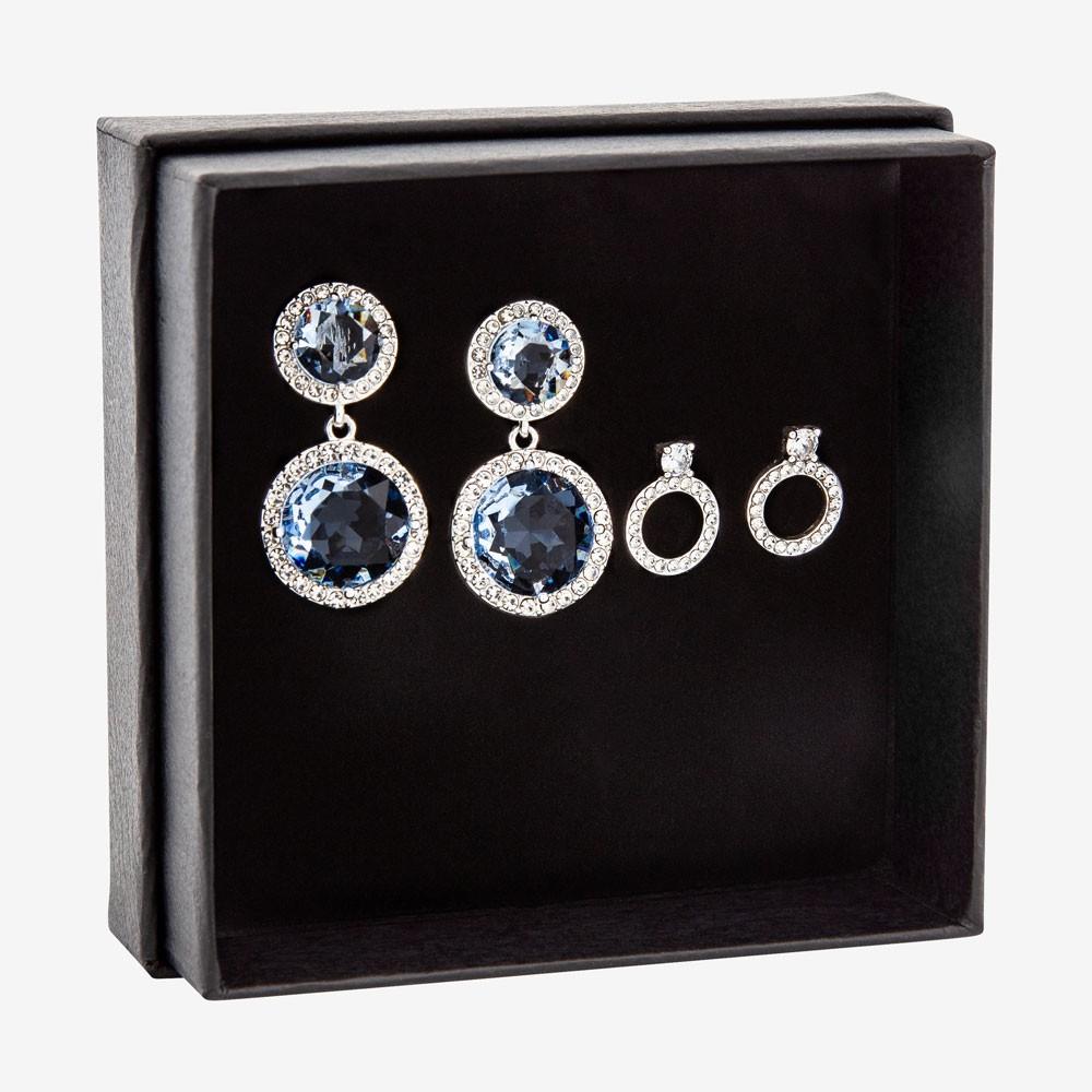 Gift Box Earring Light Sapphire