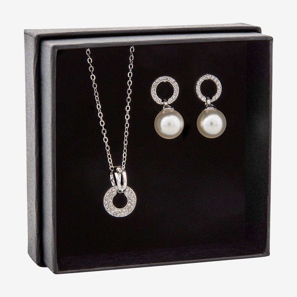 Gift Box Necklace Clear
