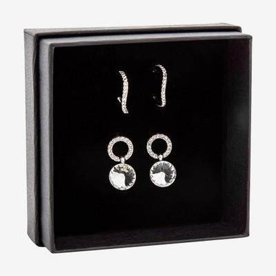 Gift Box Earring Clear