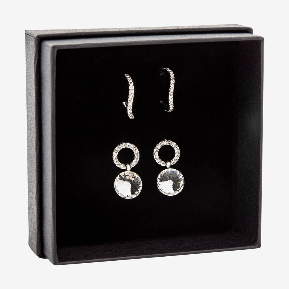 Gift Box Earring Clear