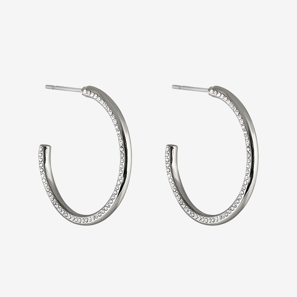 Adara Big Oval Earring