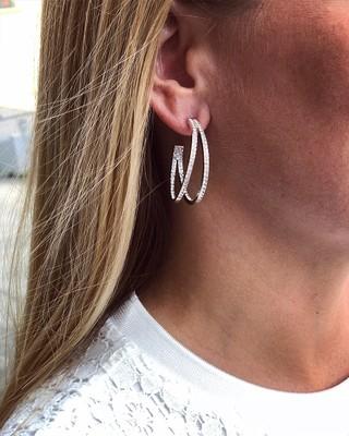 Carrie Big Oval Earring