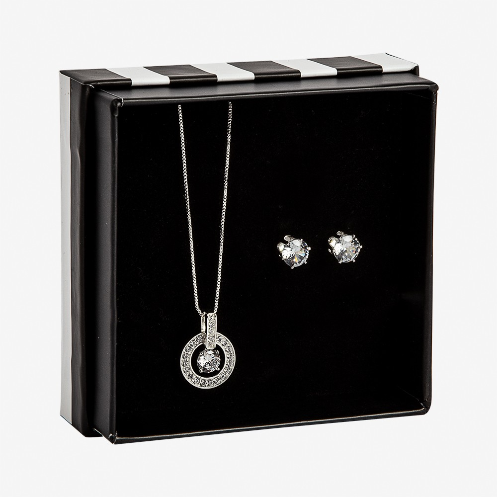 Gift Box Necklace  Elaine Clear