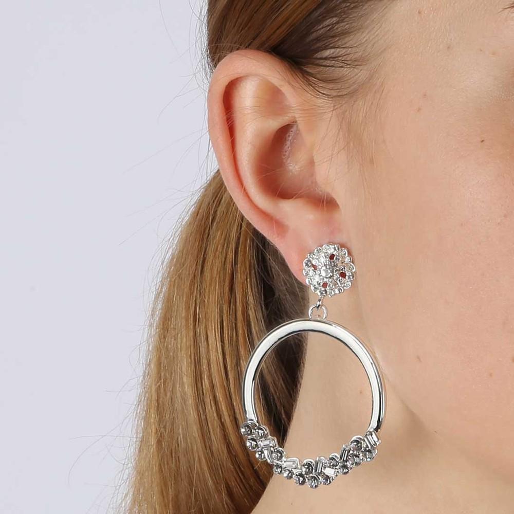 Awa Round Pendant Earring