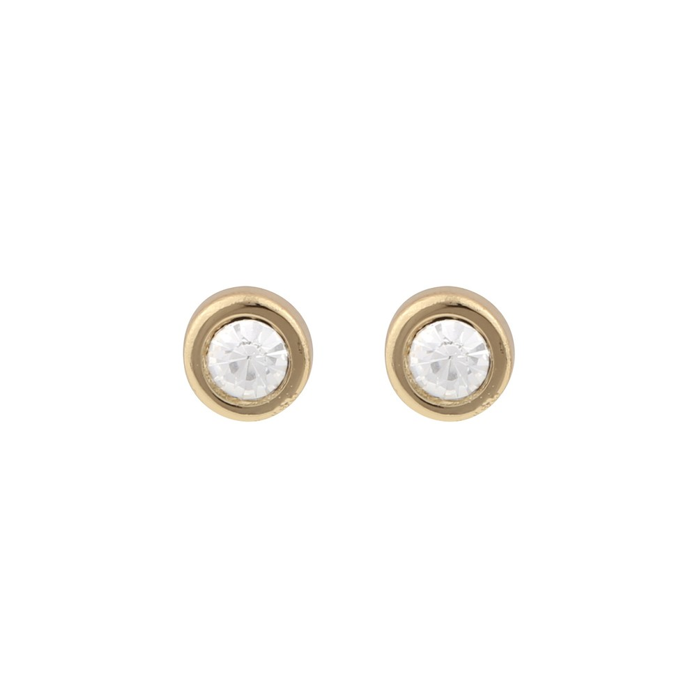35bd582a4 Keira Small Stone Earring in gold/clear | Snö of Sweden