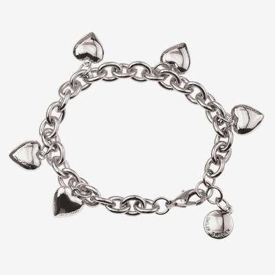 Card Charm Heart Bracelet