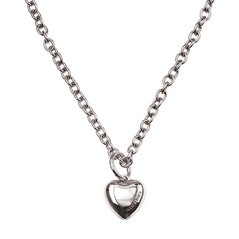 Card Pendant Heart Necklace