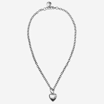 Card Pendant Heart Necklace