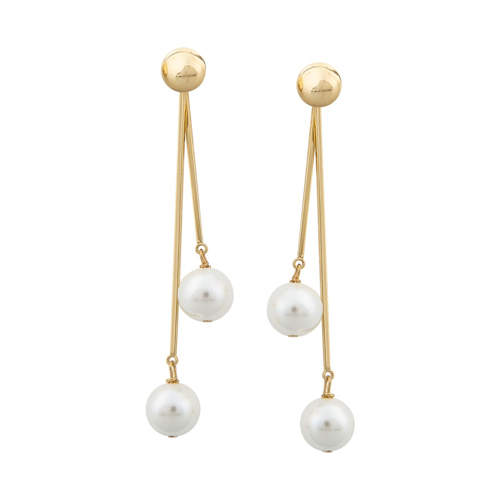 Donna Double Pendant Earring