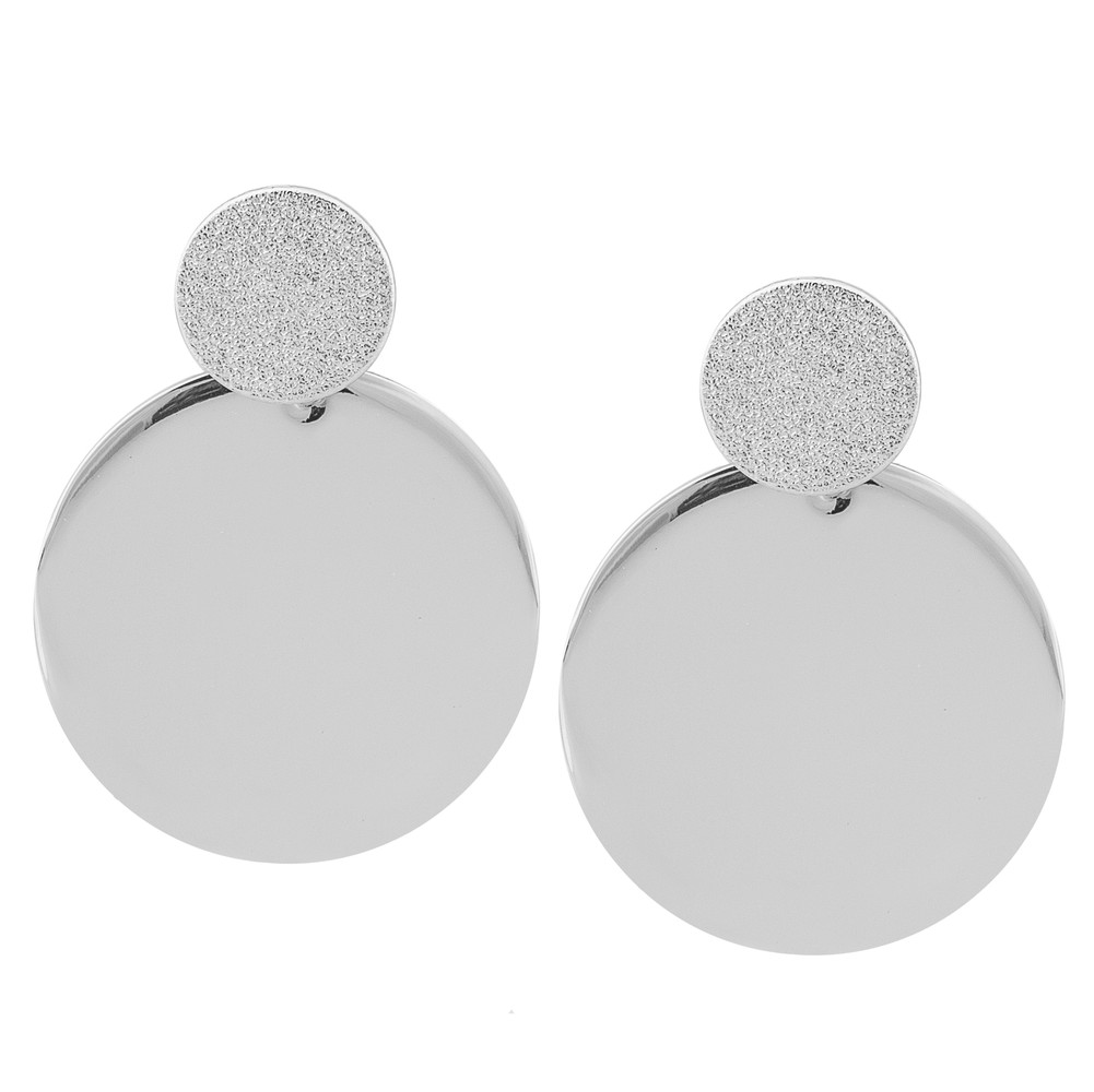 Lynx Big Coin Pendant Earring