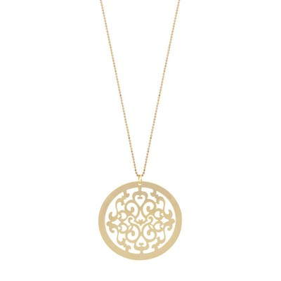 Rimii Round Pendant Necklace