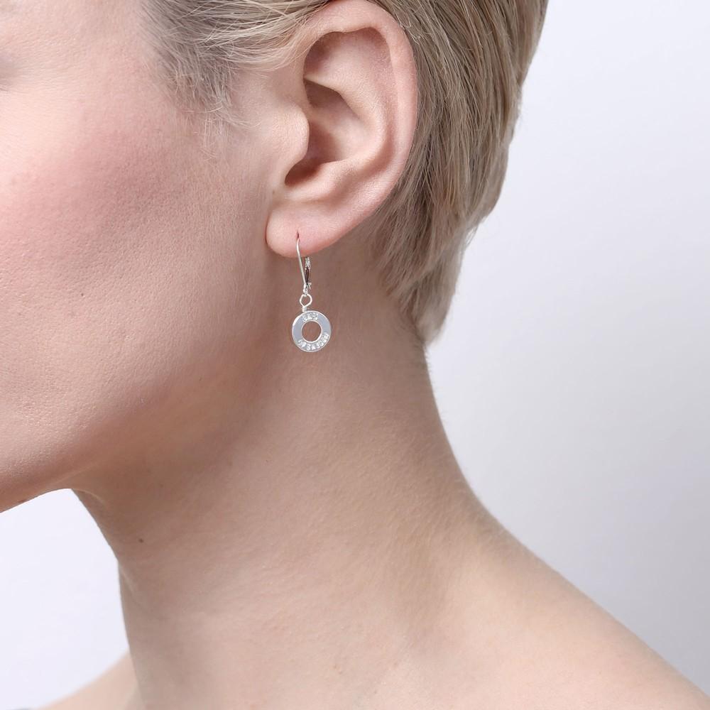 Logo Small Ring Earring