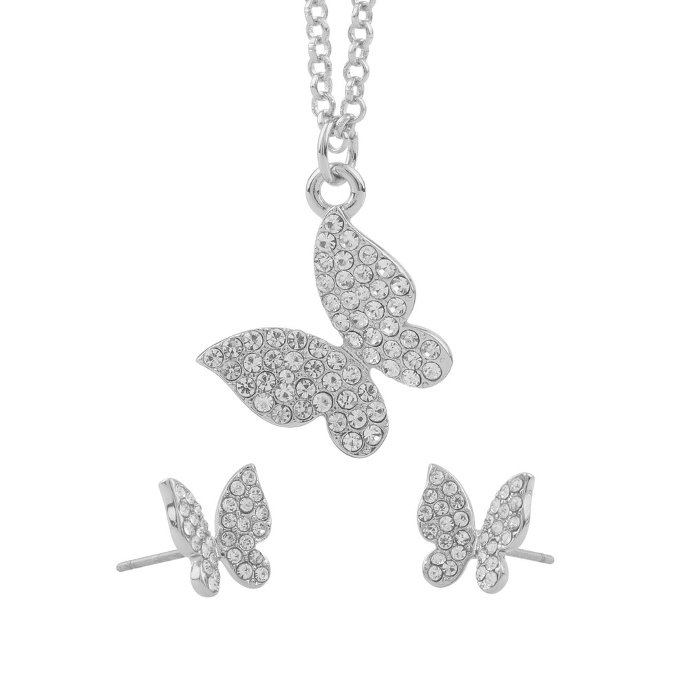 Belize Butterfly Pendant Set