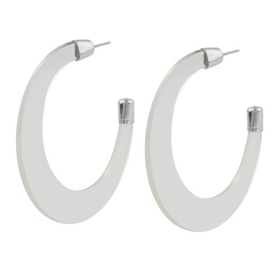 Gray Big Ring Earring