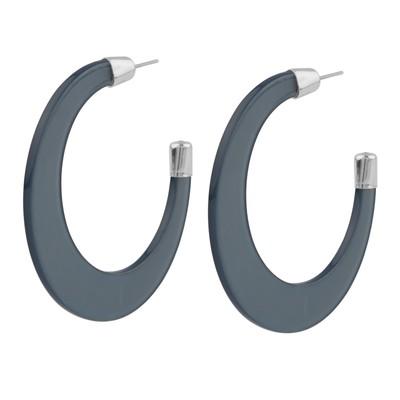 Gray Big Ring Earring