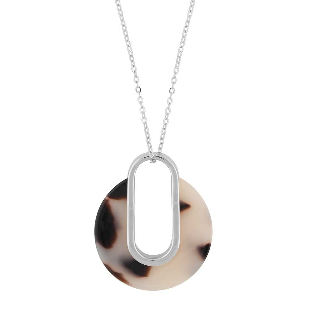 Gray Pendant Necklace
