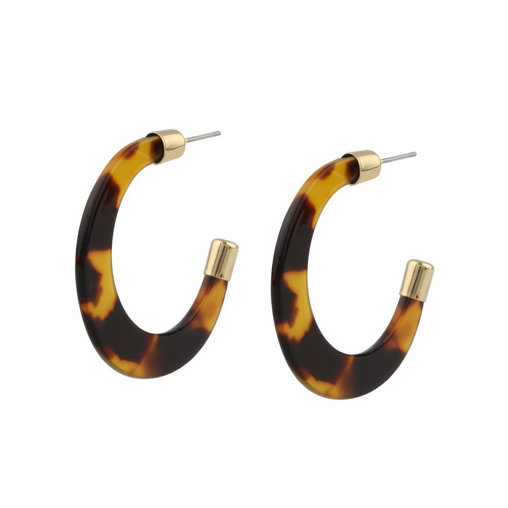 Gray Ring Earring