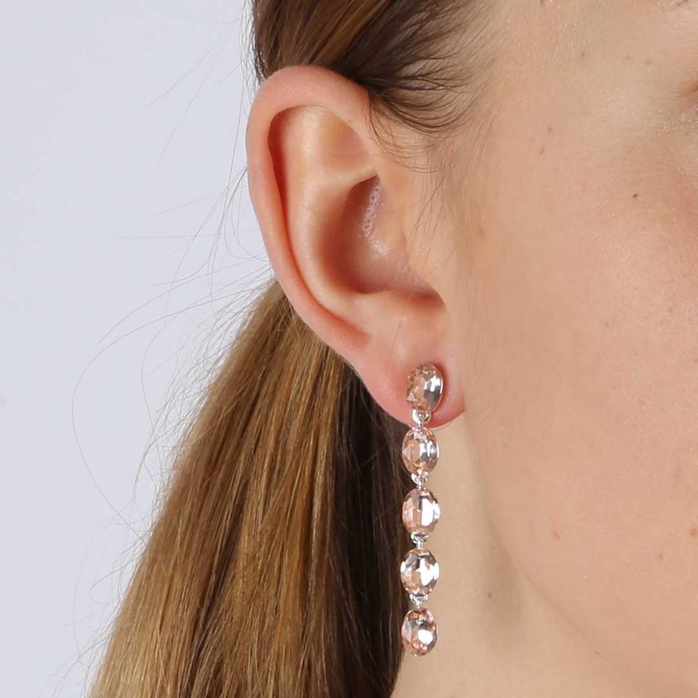 Novalie Oval Long Earring