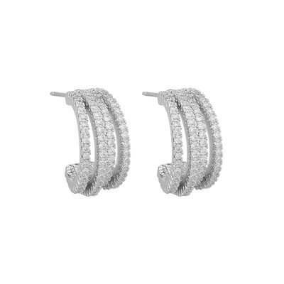 Clarissa Small Wide Oval Earring