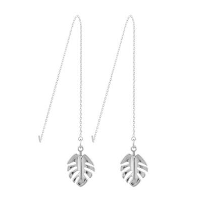 Hyde Leaf Chain Earring