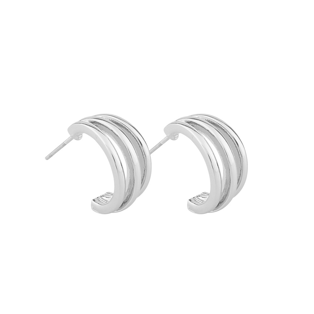 Mette Small Wide Oval Earring