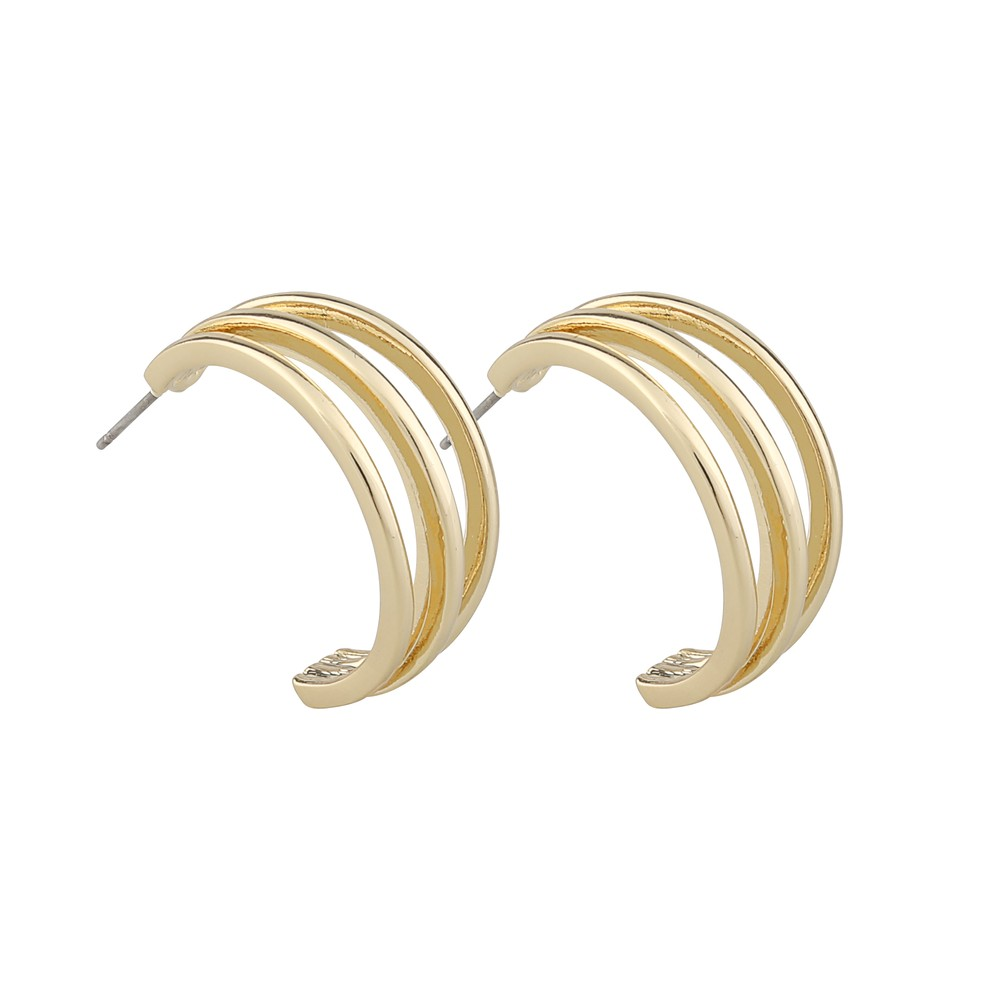 Mette Wide Oval Earring