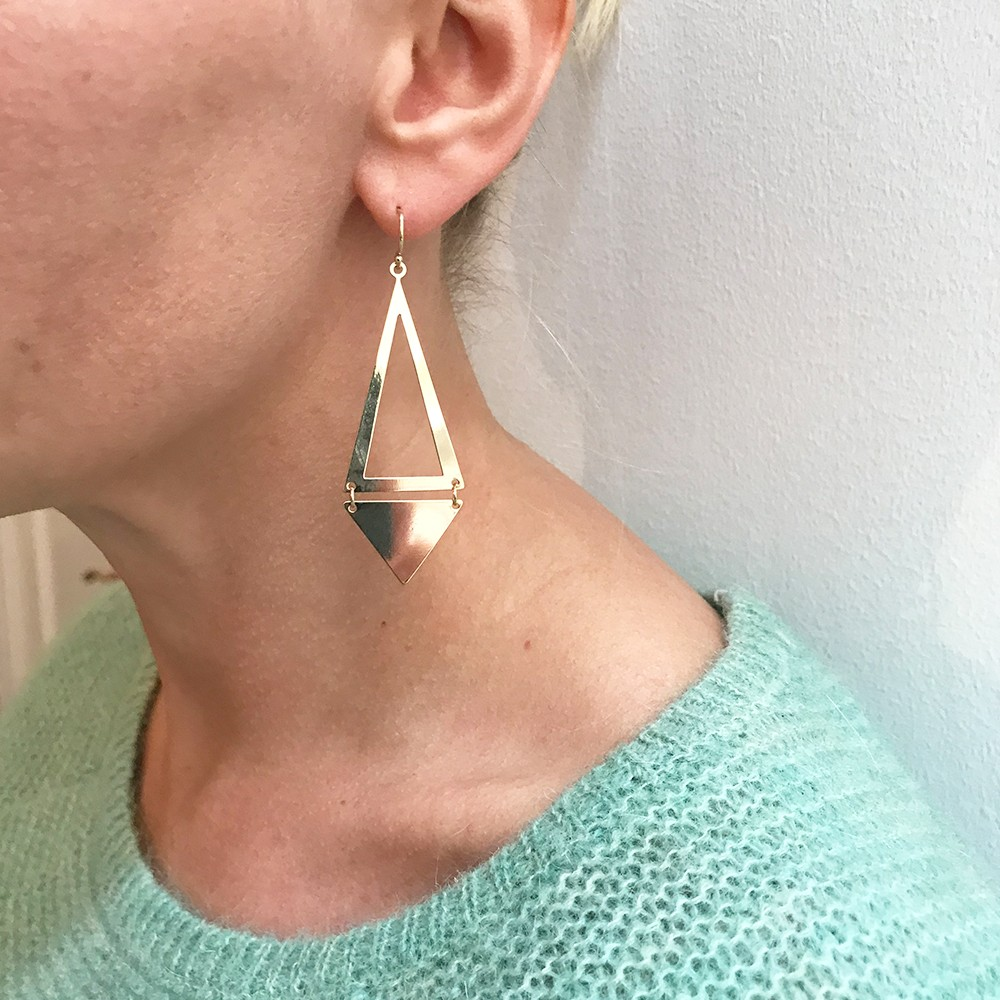 Path Pendant Earring