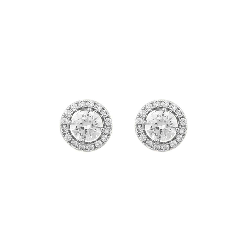 Lex Small Round Stone Earring