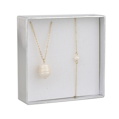 Crystal Pearl Necklace Set