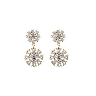 Crystal Vintage Pendant Earring