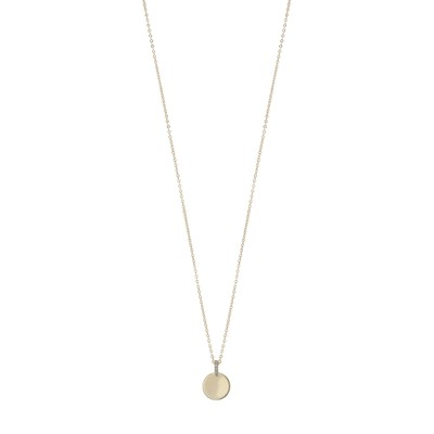 Casey Small Round Pendant Necklace