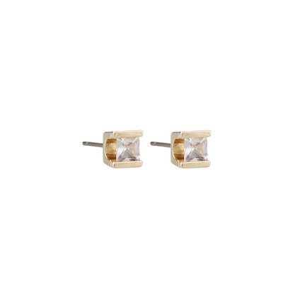 Grass Square Stone Earring