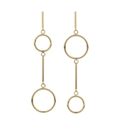Lio Round Pendant Earring
