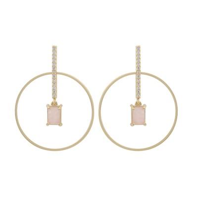 Satin Globe Earring