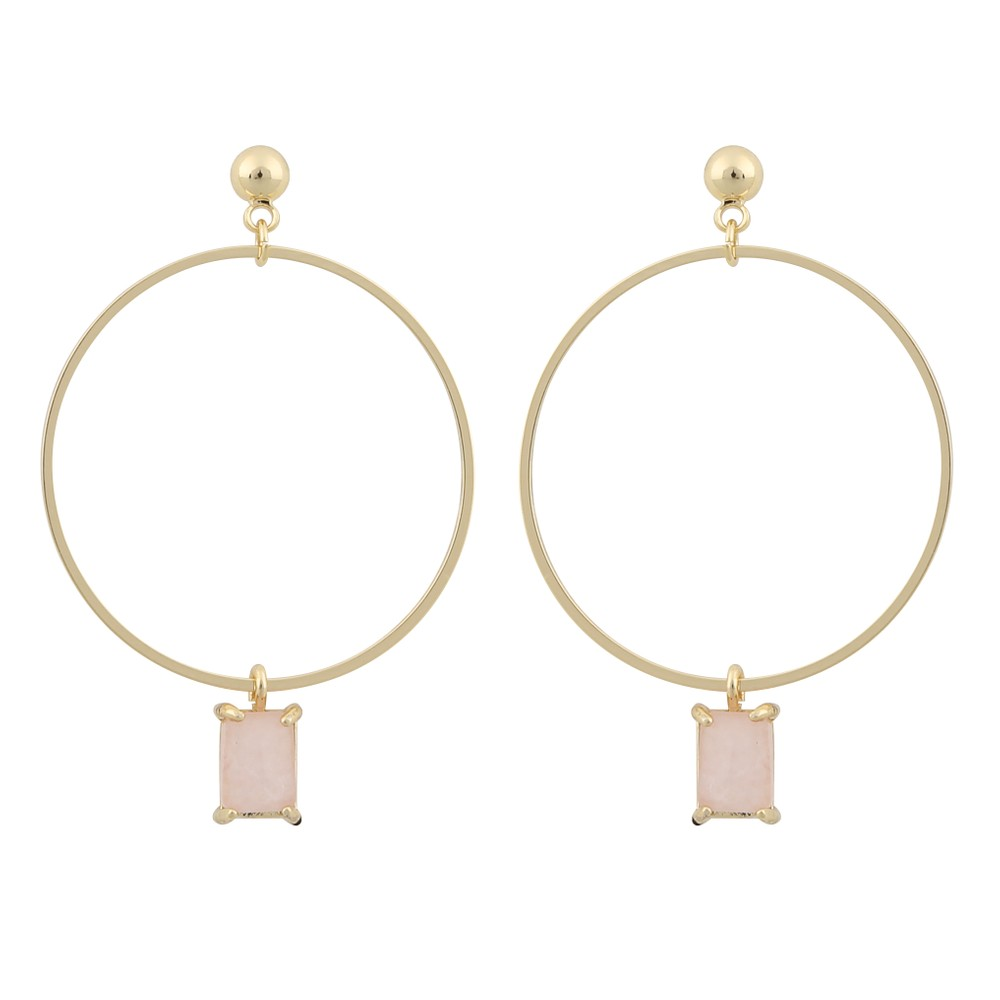 Satin Ring Pendant Earring