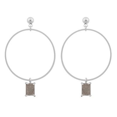 Satin Ring Pendant Earring