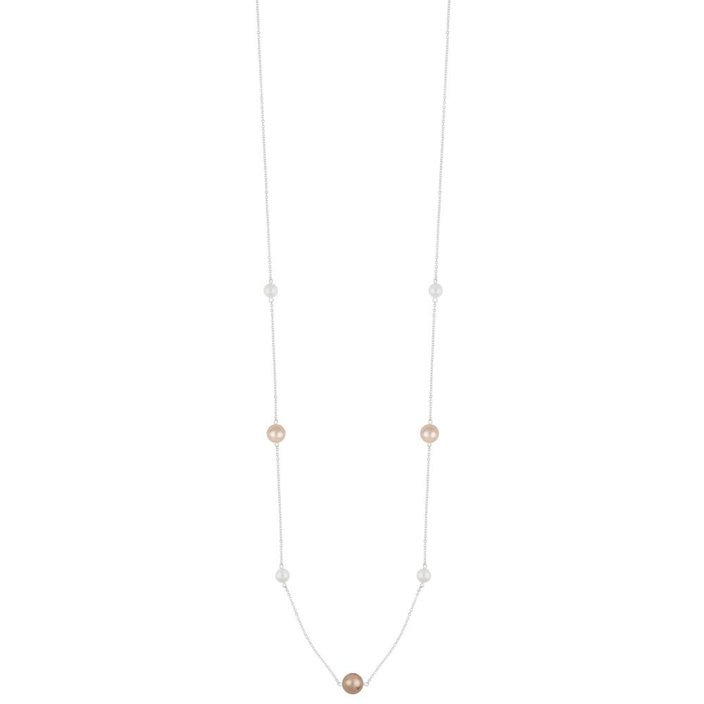Silk Pearl Chain Necklace