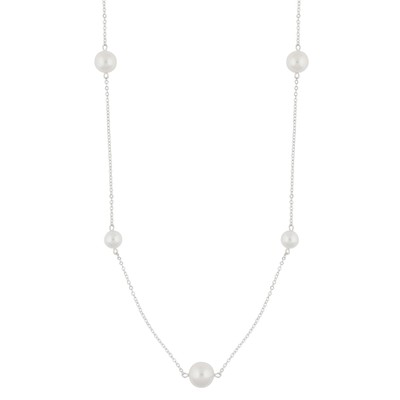 Silk Pearl Chain Necklace