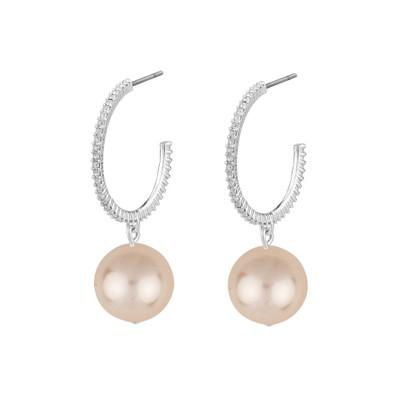 Silk Small Oval Earring