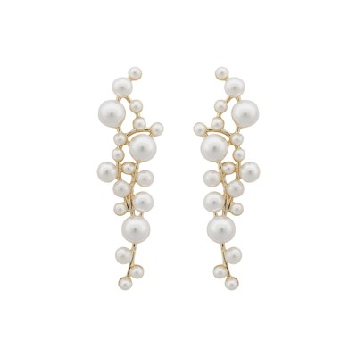 Lena Long Pearl Earring