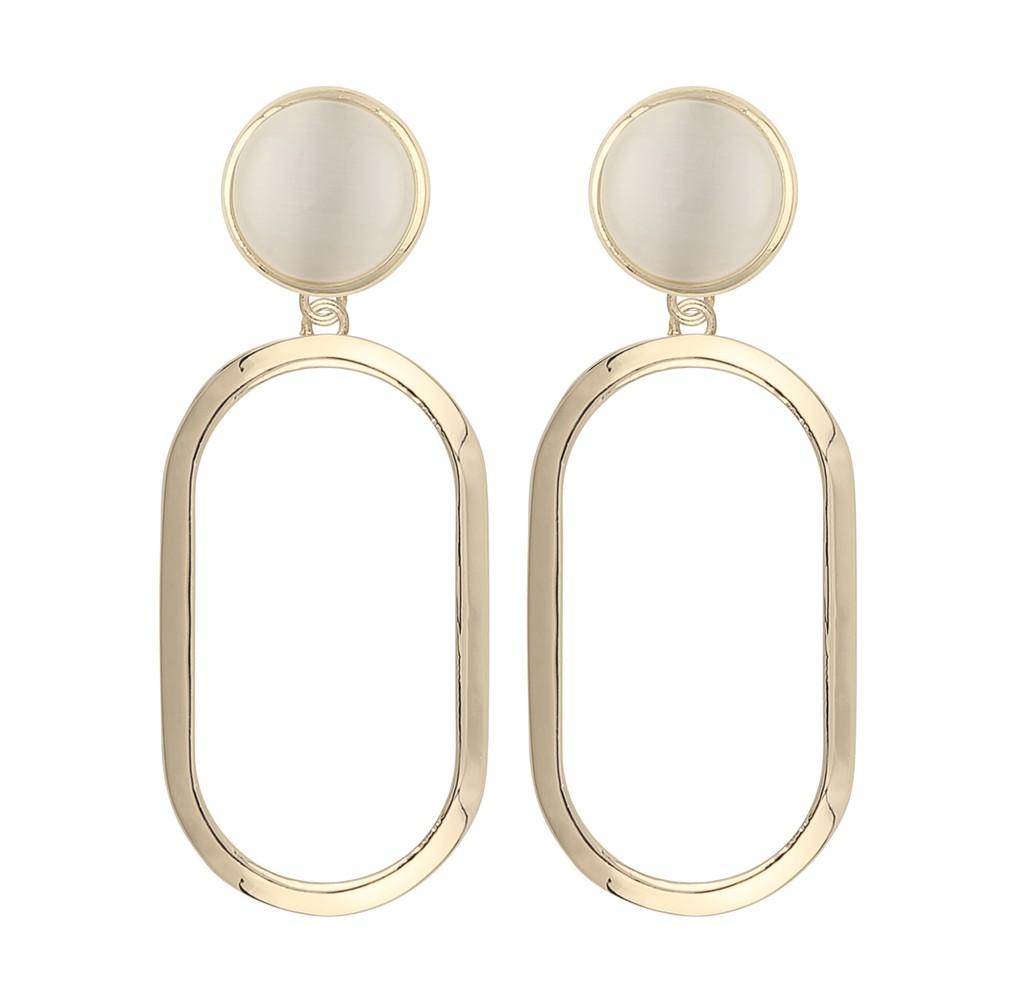 Agatha Big Oval Pendant Earring