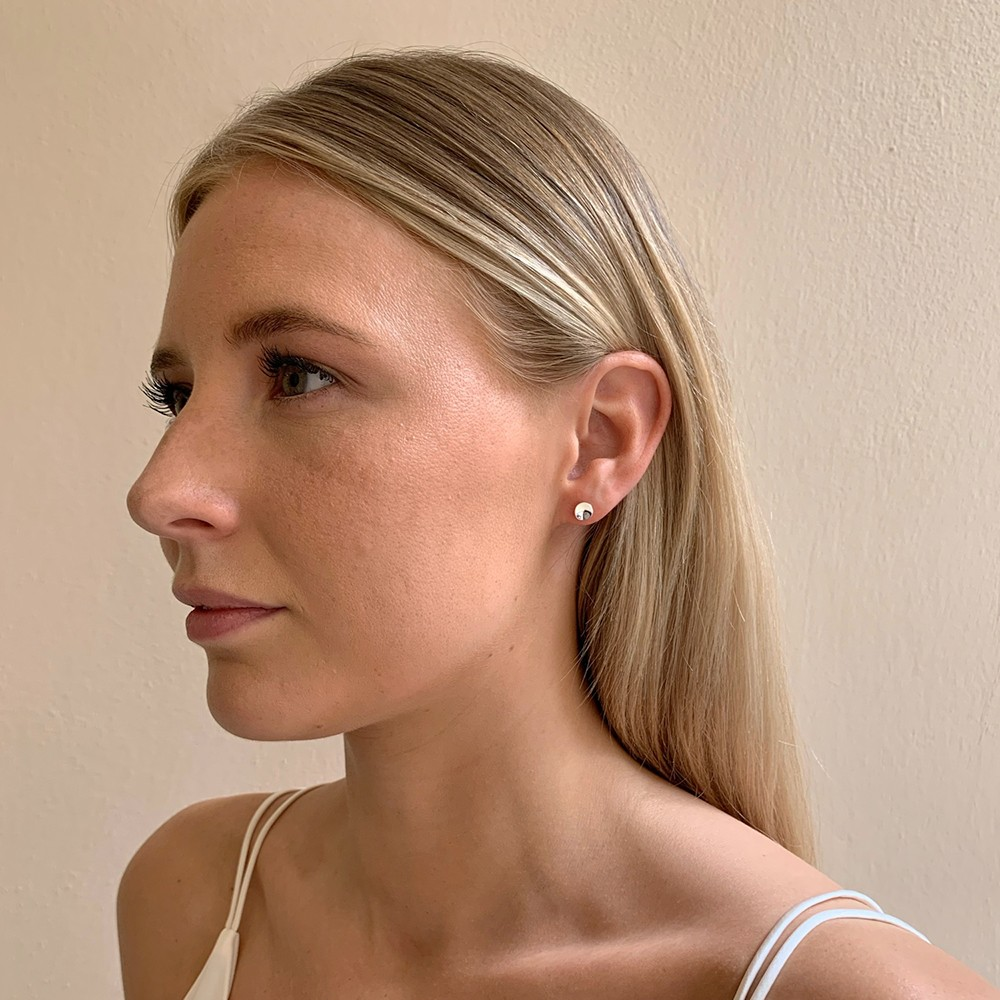Jain Small Coin Earring