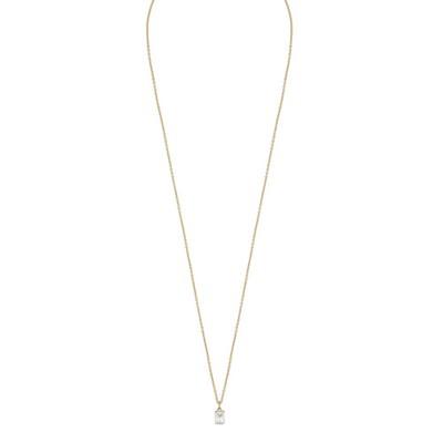 True Small Stone Pendant Necklace