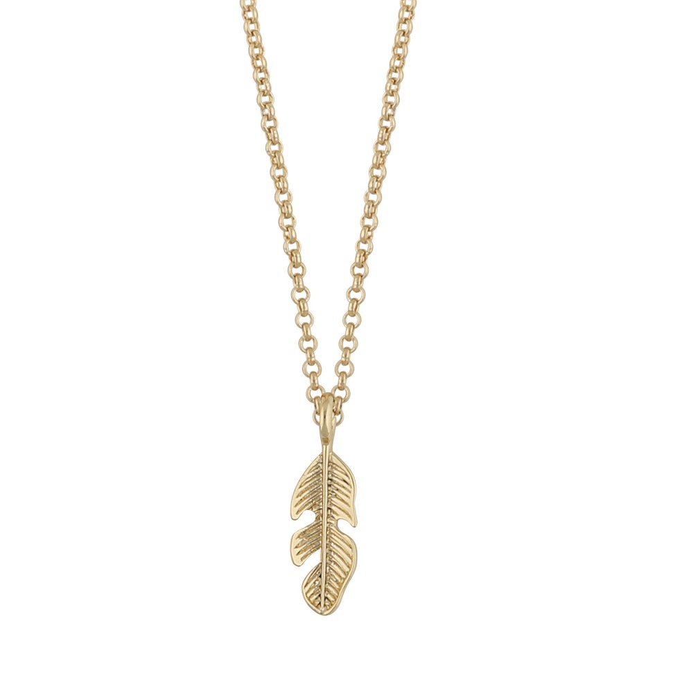 Minna Pendant Necklace Feather