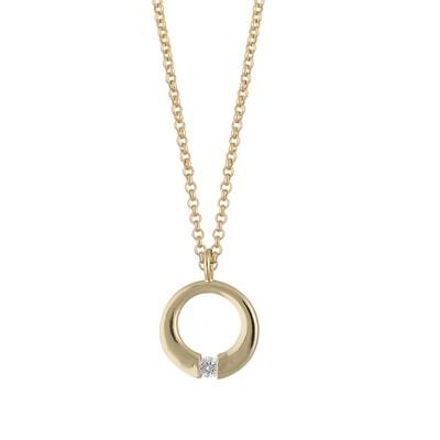 Minna Pendant Necklace Round