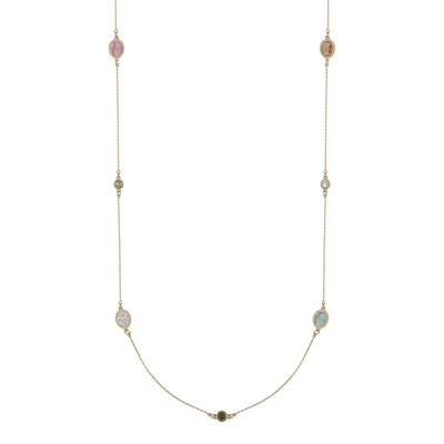 Troy Chain Oval Necklace